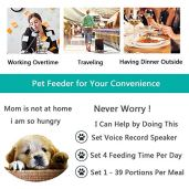 Automatic-Cat-Feeder-Pet-Food-Dispenser-Feeder-Medium-Large-Cat-Dog-4-Meal-Voice-Recorder-Timer-ProgrammablePortion-Control