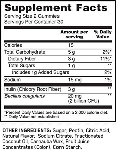 Optimum Nutrition Prebiotic & Probiotic Gummies, Vitamin C and Zinc for Immune Support and Supports Digestive Health for Men & Women, 30 Servings, 60 Count 3
