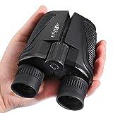 G4Free 12x25 Compact Binoculars(BAK4,Green Lens),Large Eyepiece Super High-Powered Field Surveillance Binoculars for Bird Watching Outdoor Sports Events Concerts Sightseeing