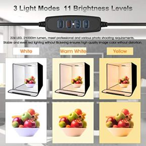 Emart-3-Light-Modes-Photo-Studio-Light-Box-Kit-with-224-LED-Table-Top-24-Inch60cm-Adjustable-Brightness-Portable-Shooting-Tent-5-Color-Backdrops-for-Product-Photography