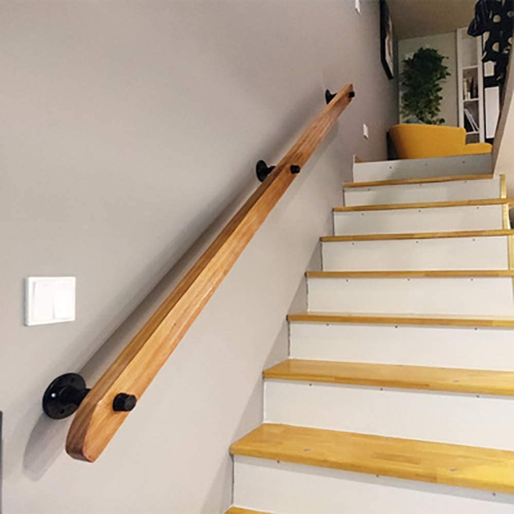 Amazon Com Staircase Handrail Banister Bannister Kit Select | Wall Handrails For Stairs | Timber | Recessed | White | Contemporary | Antique