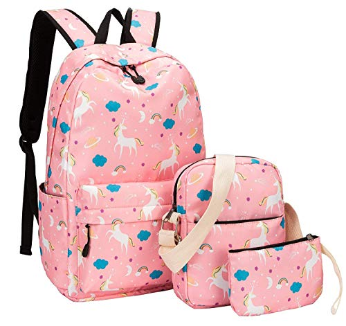 Millenial Chic Polyester 20 L School Bakcpack Combo Set of 3 (Peachy Pink)