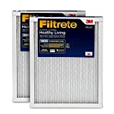 Filtrete 16x25x1, AC Furnace Air Filter, MPR 1900, Healthy Living Ultimate Allergen, 2-Pack