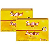 Grisi Bio Sulfur Soap with Lanolin, 4.4 oz (Pack of 2)