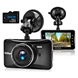 OldShark Dash Cam with 32GB Card, 3' 1080P HD Car Recorder 170 Wide Angle Night Vison Dashboard Camera with G-Sensor, Loop Recording, WDR, Parking Guard