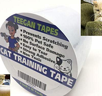 Cat Scratch Deterrent Tape | Clear Double Sided Tape | Anti Scratch...