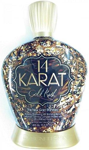 14 Karat Gold Rush 14x Plateau Breaking Bronzer Tanning Lotion 13.5 Oz./ 400 Ml