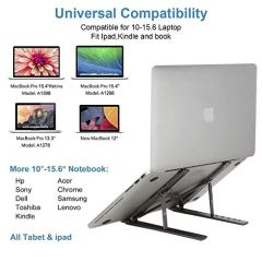 Laptop-Stand-Adjustable-Portable-Laptop-HolderAluminum-Alloy-Desktop-Mount-Compatible-with-10-156-Inch-MacBook-PC-Notebook-Tablet-Thinkpad-Space-Gray