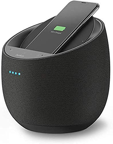 Belkin-Enceinte-Hi-Fi-connectee-Chargeur-a-induction-integre-SoundForm-Elite-Alexa-Bluetooth-Devialet-AirPlay-2-noir