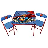 "O'Kids 0122011 Superman Children's Metal Table and Chair Set, 19"" Height, 24.5"" Wide, 24.5"" Length, Multicolor"