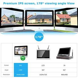 Two-Way-Audio-Wireless-Security-Camera-System-with-12-inch-IPS-Monitor-Fyuui-1080P-8CH-NVR-Surveillance-Camera-System-4pcs-1080P-20MP-Indoor-Outdoor-WiFi-IP-Camera-Remote-ViewH265-NVR