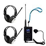 Retekess Tour Guide System Church Translation System FM Transmitter and FM Radio Receiver Support TF card AUX Input (1 Transmitter and 2 Receivers)