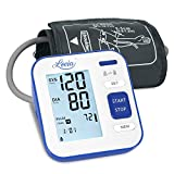 Blood Pressure Monitor Upper Arm, LOVIA Accurate Automatic Digital BP Machine for Home Use & Pulse Rate Monitoring Meter with Cuff 22-40cm, 2×120 Sets Memory, LCD Backlight
