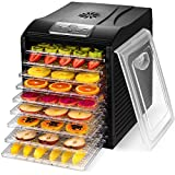 Magic Mill Food Dehydrator Machine - Easy Setup, Digital Adjustable Timer and Temperature Control | Dryer for Jerky, Herb, Meat, Beef, Fruit and To Dry Vegetables | Over Heat Protection | 9 tray