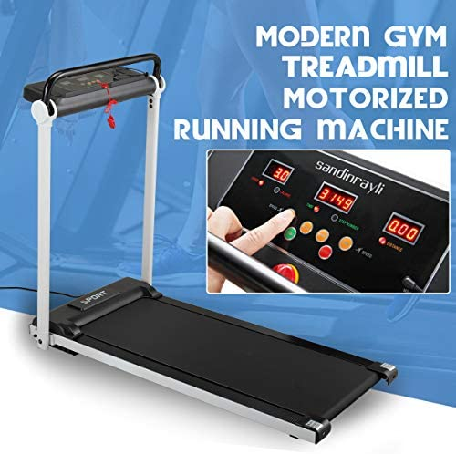 JAXPETY Electric Folding Treadmill 2.0HP Fitness Motorized Running Jogging Machine Perfect for Home/Office Gym with Large LED Display, 12 Preset Programs, Black 4