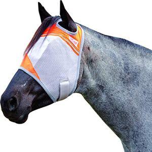 Cashel Crusader Standard Fly Mask with Orange Trim, Animal Rescue Benefit – Size: Horse