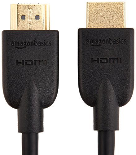 AmazonBasics High-Speed HDMI Cable, 6 Feet - Supports Ethernet, 3D, 4K video,Black 4