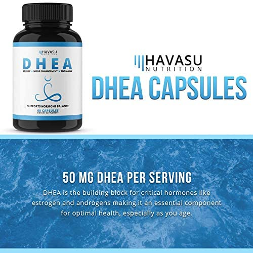 Havasu Nutrition DHEA 50mg Extra Strength Designed for Promoting Youthful Energy, Balance Hormone Levels & Supports Lean Muscle Mass, Non-GMO, Supplement for Men & Women, 60 Capsules 6