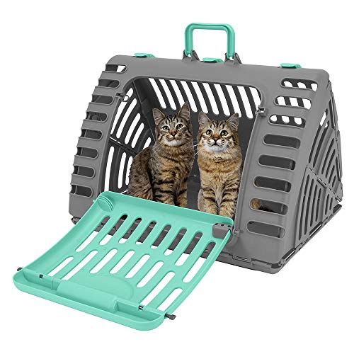 SportPet Designs Foldable Travel Cat Carrier - Front Door Plastic Collapsible Carrier 1