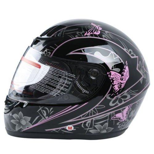 XFMT DOT Adult Pink Black Butterfly Motorcycle Street Full Face Helmet M