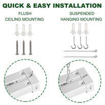 Freelicht-10-Pack-Linkable-LED-Utility-Shop-Light-4000-LM-4-FT-48-Inch-Integrated-Fixture-for-Workshop-40W-Equivalent-260W-5000K-Daylight-Surface-Hanging-Mount--ETL