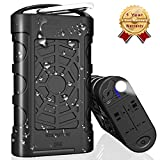 Temdan 10000mAh IPX8 Waterproof Power Bank Outdoor Rugged Portable Charger Support Charging Underwater, Built in Flashlight with Lightning Input Fast Charging for iPhone iPad Samsung and More
