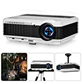 HD Outdoor Indoor Multimedia Video Projectors Max 200' WXGA 4600 Lumen LCD LED Home Cinema Theater Projectors Digital TV Gaming with HDMI RCA Audio USB VGA for PC Wii TV Stick Box Laptop DVD PS4 PS3
