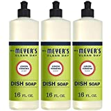 MRS Meyers Liquid Dish Soap, Lemon Verbena, 16 Fluid Ounce (Pack of 3)