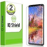 [2-Pack] IQ Shield LiQuidSkin Full Coverage Clear Screen Protector for Samsung Galaxy S9 [Edge to Edge](Max Coverage) HD Anti-Bubble TPU Film