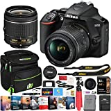 Nikon D3500 DSLR Camera with NIKKOR AF-P DX 18-55mm f/3.5-5.6G VR Lens Kit and Essential Accessory Bundle with Deco Gear Photography Gadget Bag + 32GB + Photo Video Editing Software & Maintenance Kit