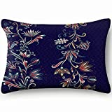 Ethnic Traditional Style Abstract Floral Vintage Home Decor Wedding Gift Engagement Present Housewarming Gift Cushion Cover 20X30 Inch