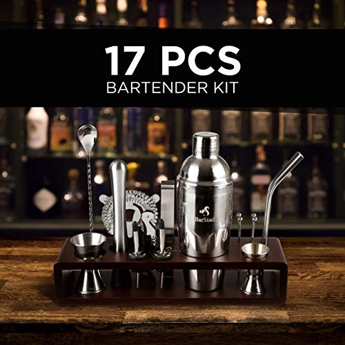 BarStash-Bartender-Kit-17-Pieces-Tool-Set-with-Bamboo-Stand-Perfect-Bar-Cocktail-Shaker-Set-Barware-Set-with-Stainless-Steel-Straws-for-a-Great-Drink-Mixing-Experience-Recipe-E-book-included