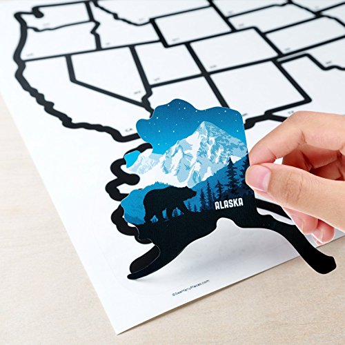 RV State Stickers United States Travel Camper Map, 21\