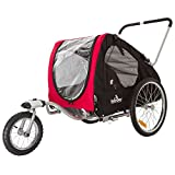 Lucky Dog Deluxe Pet Stroller - Bike Trailer Combo - 88 lb Capacity
