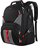 17 Inch Laptop Backpack,Extra Large Durable TSA Travel Computer Backpack for Men Women,Water-Resistant Big Business College School Bookbag with USB Charging Port/Luggage Sleeve/Headphones Hole