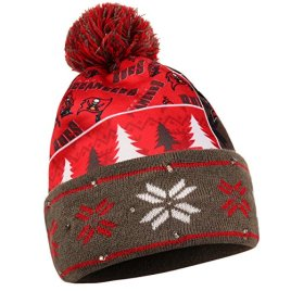 NFL Tampa Bay Buccaneers Busy Block Printed Light Up Beanie, One Size, Red