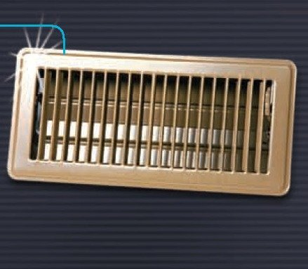 4 Quot X 10 Quot Floor Register With Louvered Design Heavy Duty