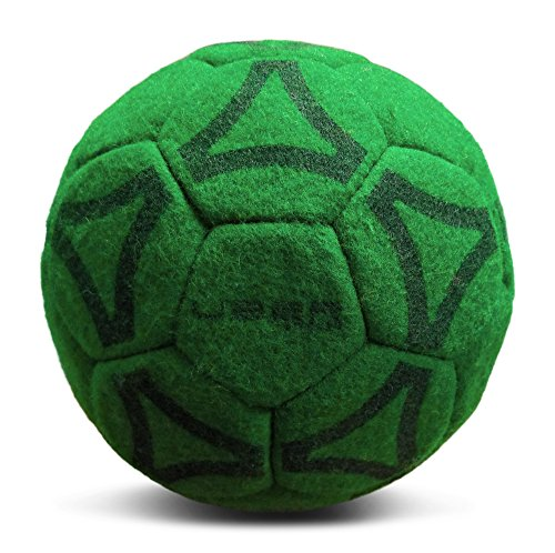 Uber Soccer Indoor Felt Soccer Ball - Sizes 3, 4, and 5 - Yellow, Orange, Pink or Green