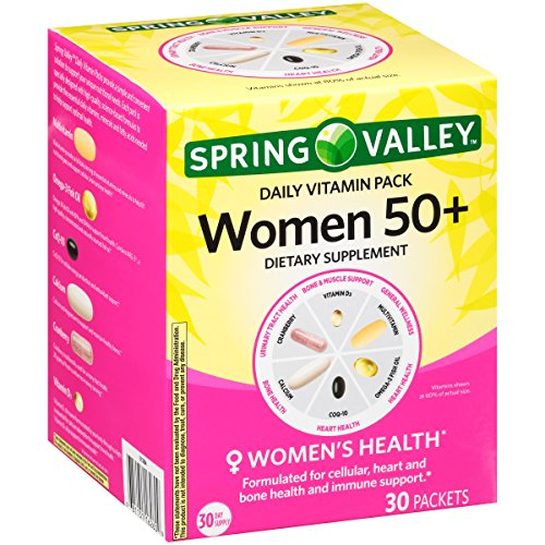 Spring Valley Women 50+ Daily Vitamin Pack Dietary Supplement 30 ct Box