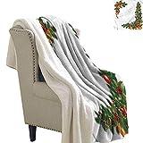 Jaydevn Christmas Lightweight Microfiber Blankets Artful Tree Objects Lightweight Thermal Blankets 60x32 Inch
