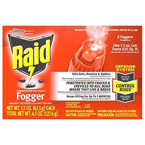 Raid Concentrated Deep Reach Fogger (3 Count)