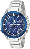 Casio Men's Edifice Solar Connected Quartz Watch with Stainless-Steel Strap, Silver, 14 (Model: EQB-501DB-2ACF)