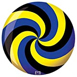 Brunswick Spiral Yellow/Black/Blue PRE-DRILLED Viz-A-Ball Bowling Ball (14lbs)