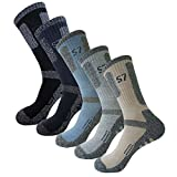 SEOULSTORY7 5Pack Men's Climbing DryCool Cushion Hiking/Performance Crew Socks 5Pair Large2
