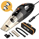 HOTOR Corded Car Vacuum Cleaner with LED Light, HOTOR DC12-Volt Wet/Dry Portable Handheld Auto Vacuum Cleaner for Car, 16.4 Feet Power Cord with Carry Bag