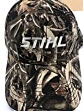 Stihl Officially Licensed Bonz Camo Cap W/White Embroidered Logo & Adjustable Back