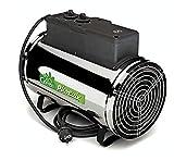 Bio Green PHX 2.8/US Phoenix Electric 3412/6141/9553 BTU 1000/1800/2800 W-240 V Greenhouse Heater, 2 Years Warrenty, 18 x 15 x 11 in, Silver