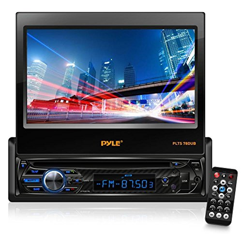 Single DIN Head Unit Receiver - in-Dash Car Stereo with 7' Multi-Color Touchscreen Display - Audio Video System with Bluetooth for Wireless Music Streaming & Hands-Free Calling - Pyle PLTS78DUB
