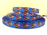 5 yards 3/8 Superman Grosgrain Ribbon