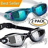 ALLPAIPAI Swimming Goggles Swim Goggles, Pack of 2 Professional Anti...